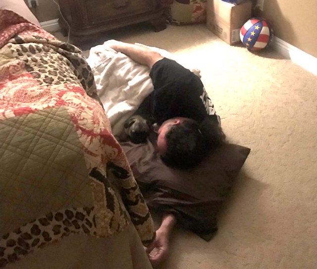 Zabroniła psu spać na łóżku. Kiedy wstała rano, zobaczyła coś, co rozśmieszyło ją do łez