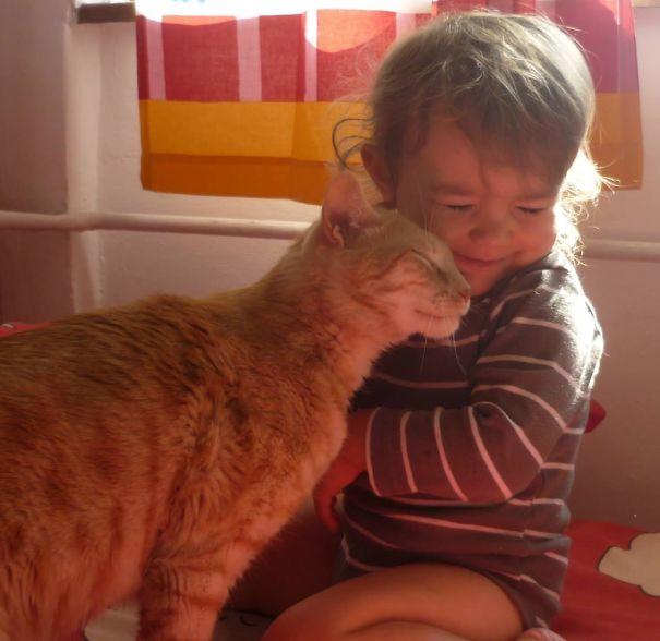 Słodkie zdjęcia, które udowadniają, że każde dziecko powinno wychowywać się z kotem