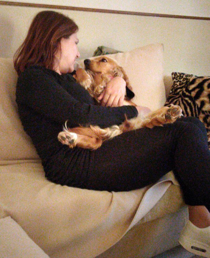 pies i właścielka