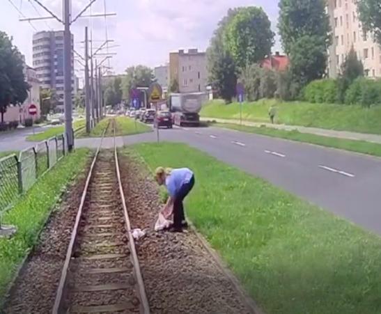 Elbląg: Motornicza bohaterka opuściła własny tramwaj, aby uratować uwięzione na torach zwierzę